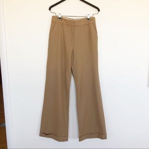J Crew High Rise Wide Leg Hutton Trousers camel